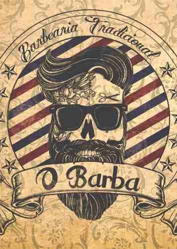 placas decorativas barbearia barber shop vintage 20x30cm