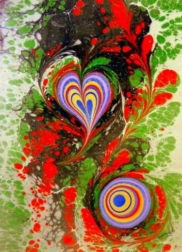 ebru 10THE ART OF EBRU = L'ART DE EBRU = EBRU SANATI