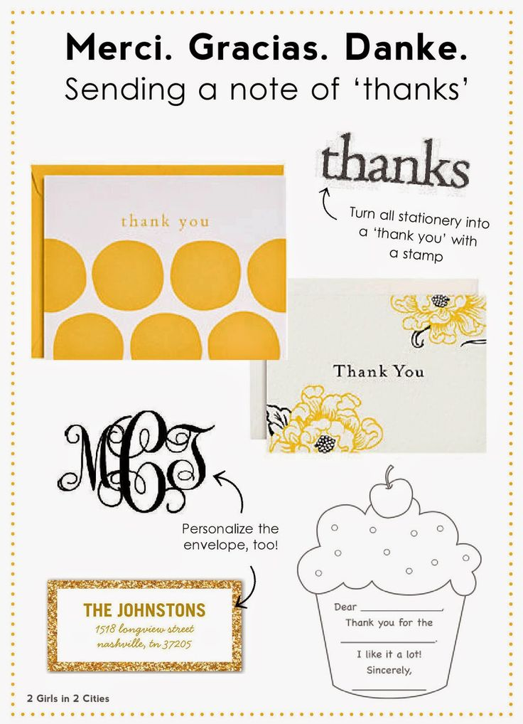 Etiquette For Thank You Notes Kids Parties
