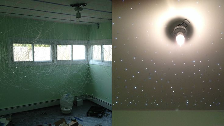 Soon-to-be dad's starry DIY nursery project goes viral