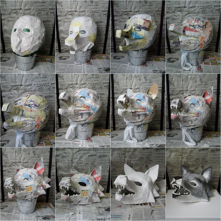 DIY Wolf mask, just the pic series