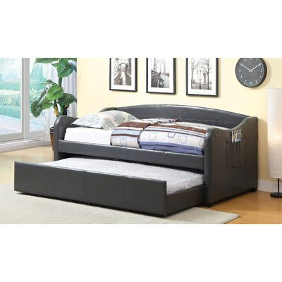 buy archer platform daybed with trundle finish gray