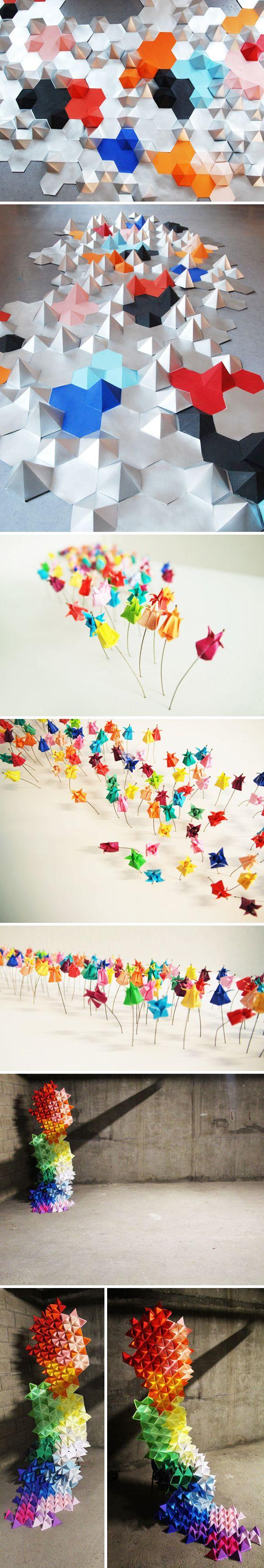 laure devenelle paper installations | The Jealous Curator | Bloglovin