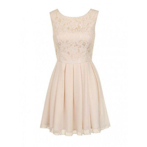 Chi Chi London Lace Sleeveless Skater Dress ($61) ❤ liked on Polyvore featuring dresses, vestidos, skater dress, short dresses, cream, women, pink floral dress, pink sequin dress, sequin cocktail dresses and lace mini dress