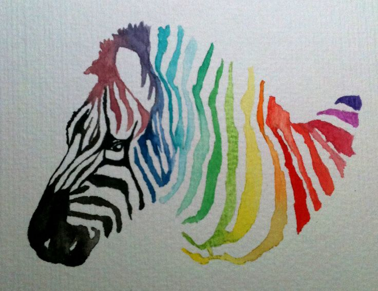My Color Wheel Project I Used A Zebra As Inspiration
