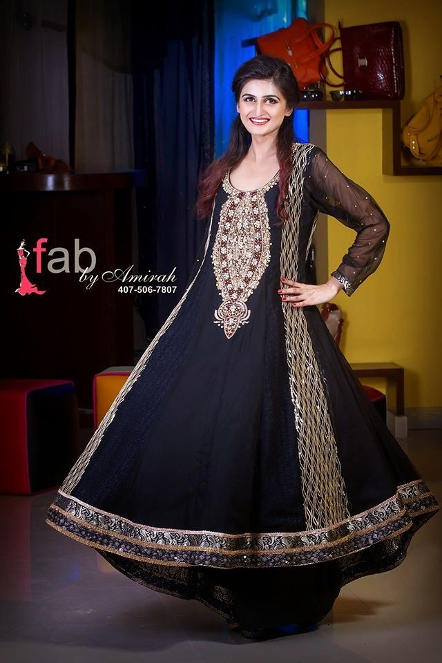Fab By Amirah Party Wear Frocks 2015   New Designs Of Stylish Frocks