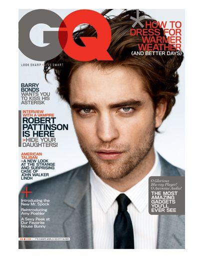 The GQ Cover Portfolio: The Magazine: GQ: Magazine Series, Favourit Vampires, Robertpattinson, Rob Magazines, Gq Magazines, Robert Pattinson, Favourite Vampire, Magazines Covers
