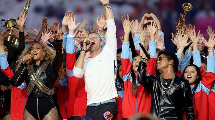 Chris Martin and Co. get a hand from some high-profile friends, deliver an epic halftime show at the Big Game
