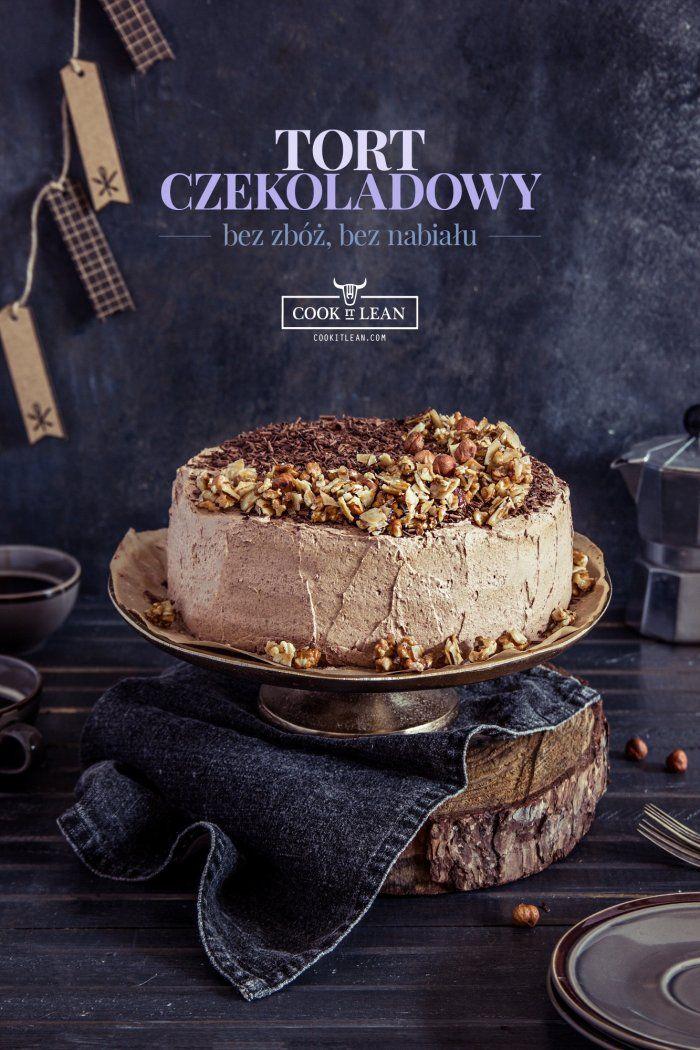 Tort czekoladowy - bez glutenu, bez nabiału, paleo - Cook it Lean - sprawdzone paleo przepisy