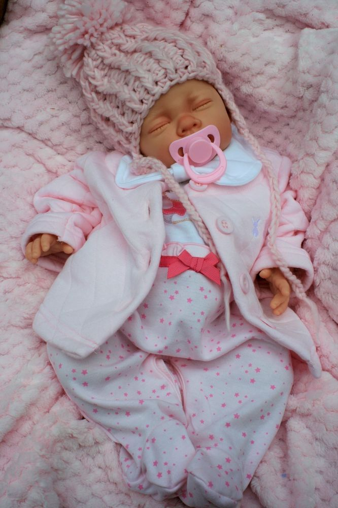 BUTTERFLY BABIES REBORN BABY GIRL SPANISH JACKET SET PINK POM POM HAT FOR XMAS #BUTTERFLYBABIES