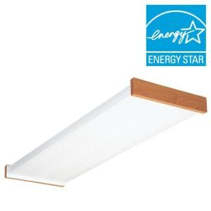 Lithonia Lighting 4 ft. Wraparound Lens Fluorescent Ceiling Fixture-3255RE - The Home Depot