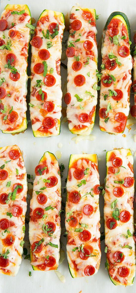 Pizza a base de pepino.