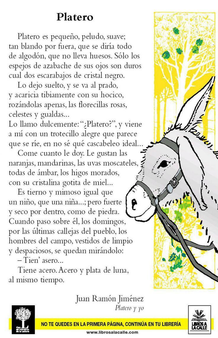 Primeras frases de 'Platero y yo', de Juan Ramón Jiménez