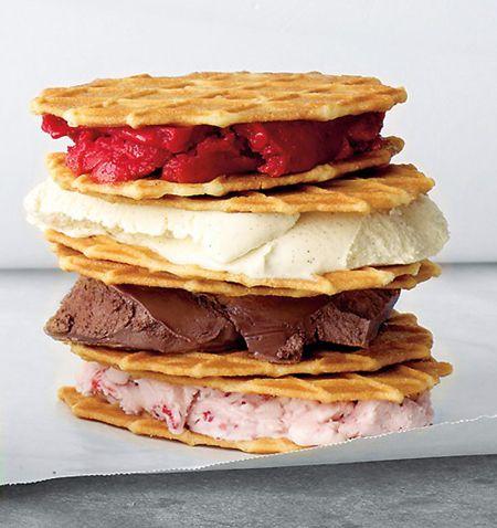 ice cream waffle sandwiches pinterest. Black Bedroom Furniture Sets. Home Design Ideas