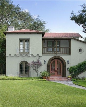 Stucco Style Body Color Misted Green Trim Color