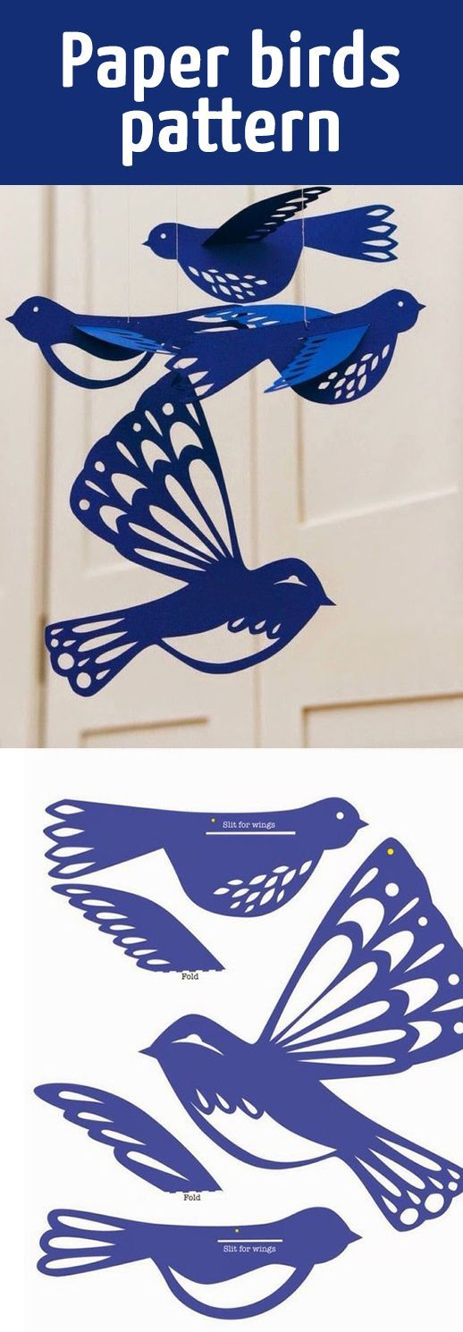 Paper birds pattern - these are so beautiful!