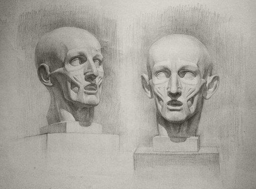 Академический рисунок - повышенный. Изображение человека! | Московская Студия Рисунка