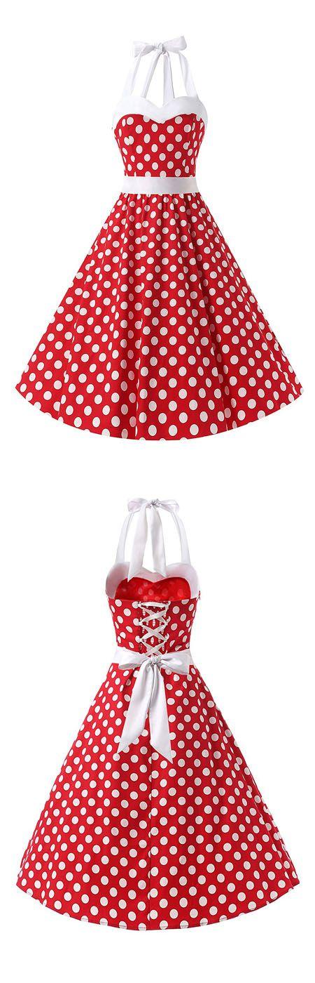 fashion vintage style dress,rockabilly dress,polka dots dress,halter dresses,retro dress