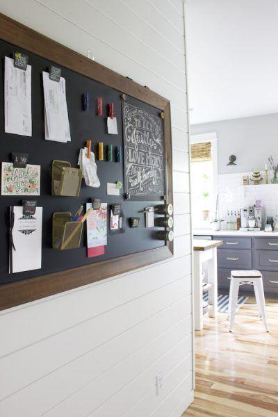 the-inspired-room-chalkboard-command-center-bulletin-board-shiplap-walls