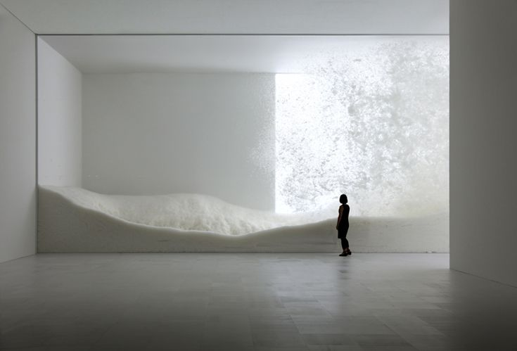 Snow by Tokujin Yoshioka, Sensing Nature exhibition at the Mori Art Museum in 2010