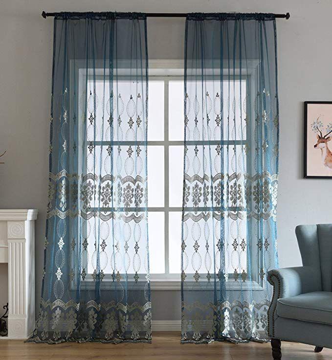 28 99 Amazon Com Aside Bside Rod Pocket Top Sheer Curtains