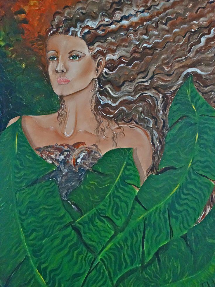 Femme avec feuilles de banana propiedad del artista DAM 1989
