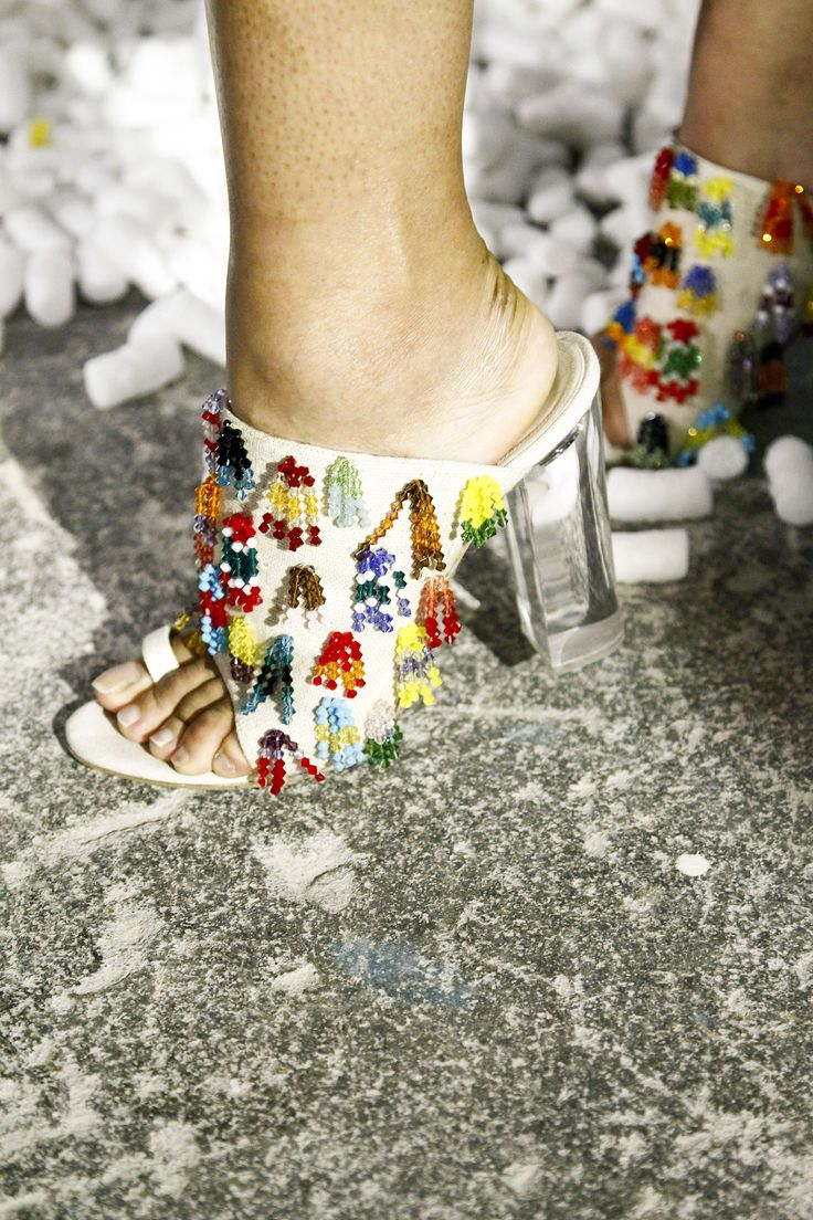 Obsessing over these amazing beaded heels!