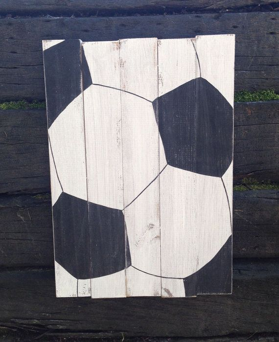 This listing for the soccer ball sign only! This sign is approx. 12 x 18  - All 4 signs can be purchased together in another listing! -  All