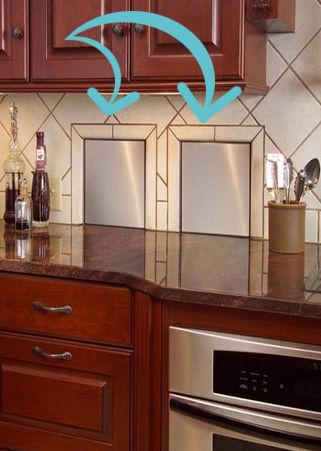 Recycling and garbage chutes in the kitchen that lead to the garage or outside!!!  GENIUS!!