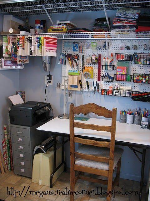 Craft closet craft room closet pinterest my mom for Closet world garage