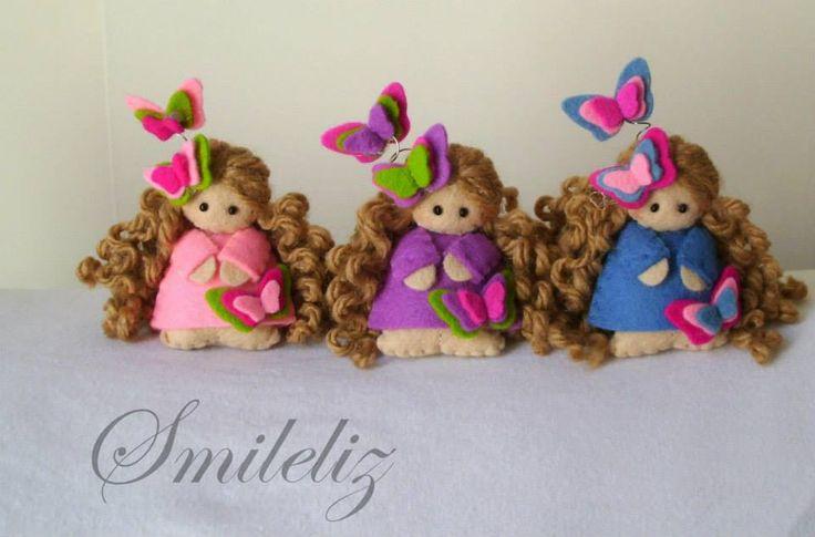 Three Felt doll