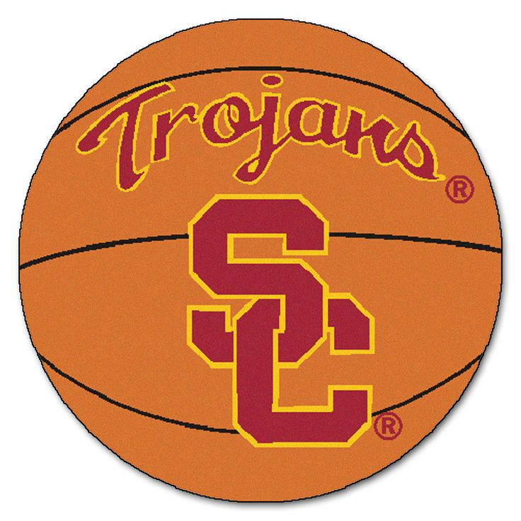 USC Trojans Basketball Area Rug