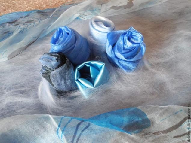 how to add 3D fabric roses to your felt