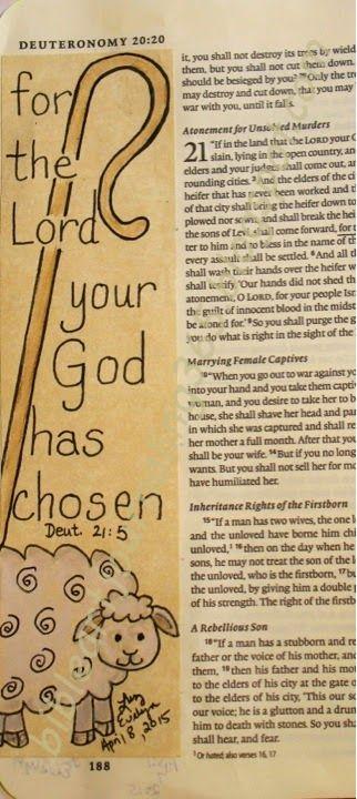 Easy Bible Art Journaling Journey: Deuteronomy 21:5 (April 8th)