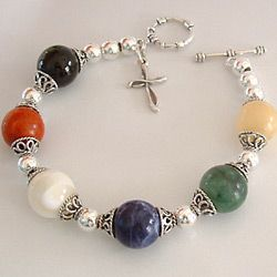 Salvation Bracelets carry special meaning, as each colored bead represents something and shares the message of God's love:Black - My Sin  Red - The Blood of Christ  White - Forgiveness  Blue - Gift of the Holy Spirit  Green - Promise of Eternal Life  Gold - Heaven with Streets of Gold