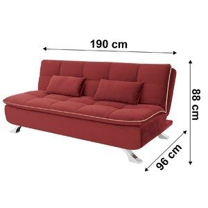 Sofá cama Mayara Linoforte 909 Vermelho