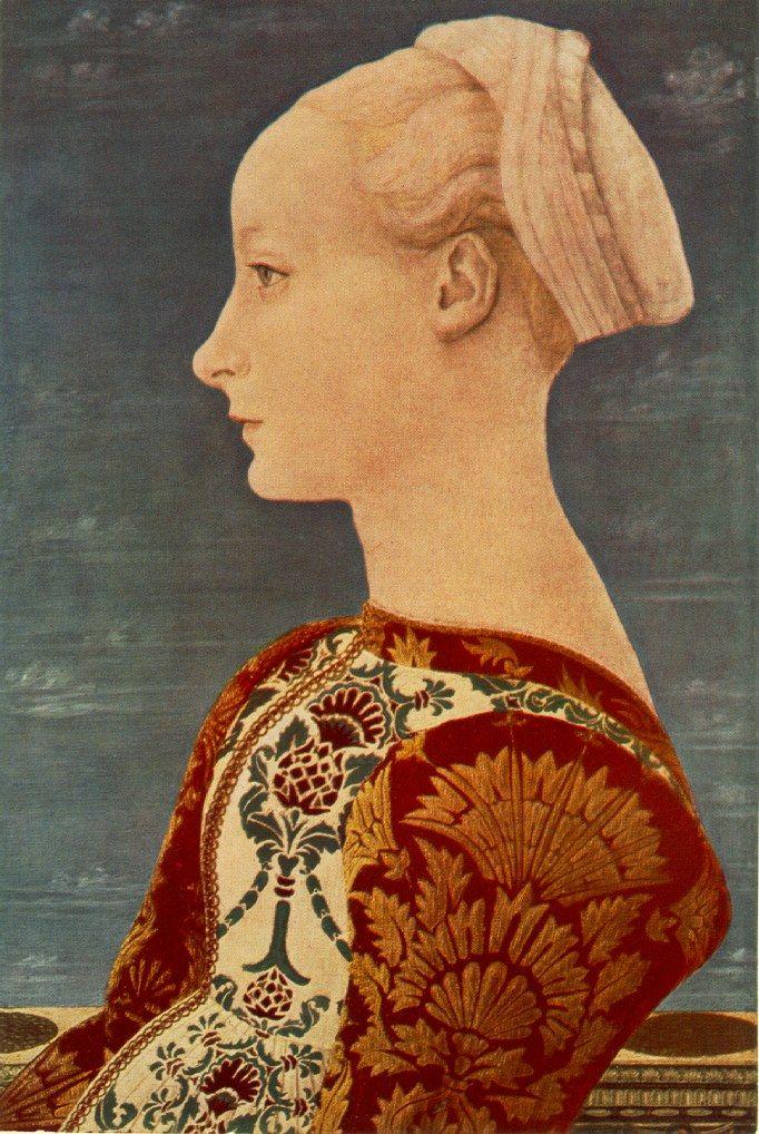 Domenico Veneziano. Portrait of a young woman, Berlin
