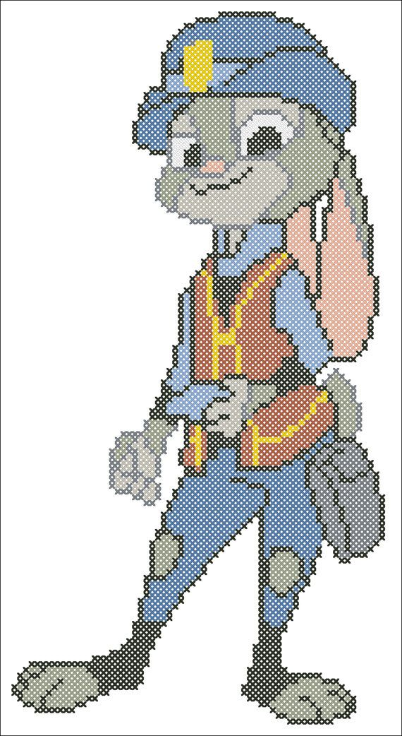 BOGO FREE ZOOTOPIA Characters-Judy Hopps by Rainbowstitchcross