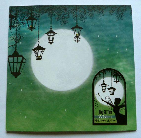 Birthday Fairy Handmade Card Green Fairy Card by TheArtOfBeinAGirl