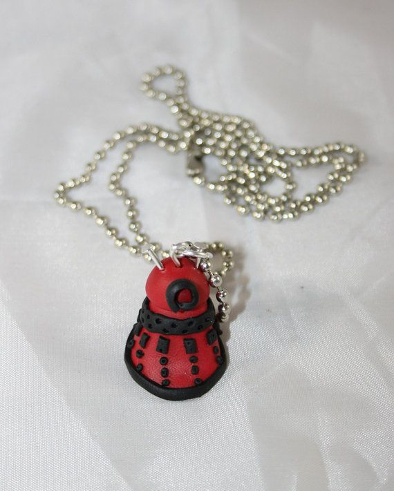 Fimo necklace inspired by DALEK from Doctor Who series