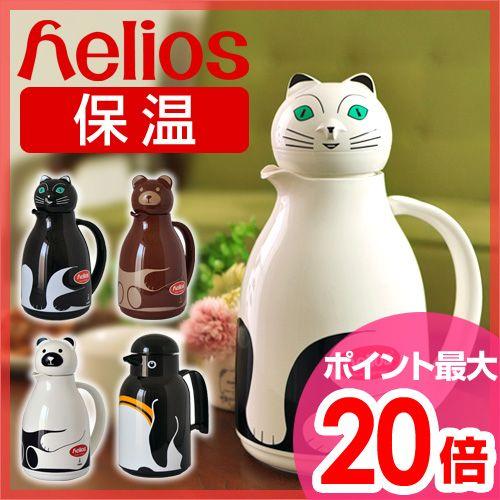 【卓上ポット】helios(ヘリオス)アニマル魔法瓶卓上魔法瓶1L保温保冷サーモベアサーモキャットサーモバード