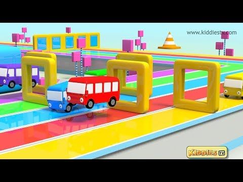 Colorful buses run along roads made of shapes! Your favourite wheels on the bus song with great colors , fun buses and lots of shapes!
