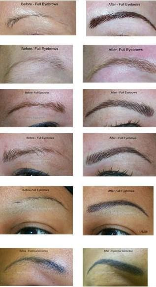 hair stroke eyebrow tattoos