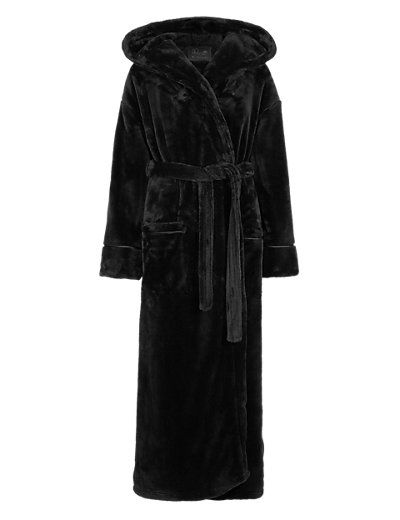 Hooded Luxury Dressing Gown   M&S