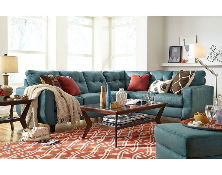 The West Village Blue II Collection | Value City Furniture. Living Room  FurnitureLiving Room IdeasDining ...