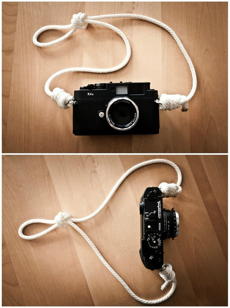 Bust out your Boy/Girl Scout knot-tying chops! Jbot made this dapper camera strap using nylon rope.