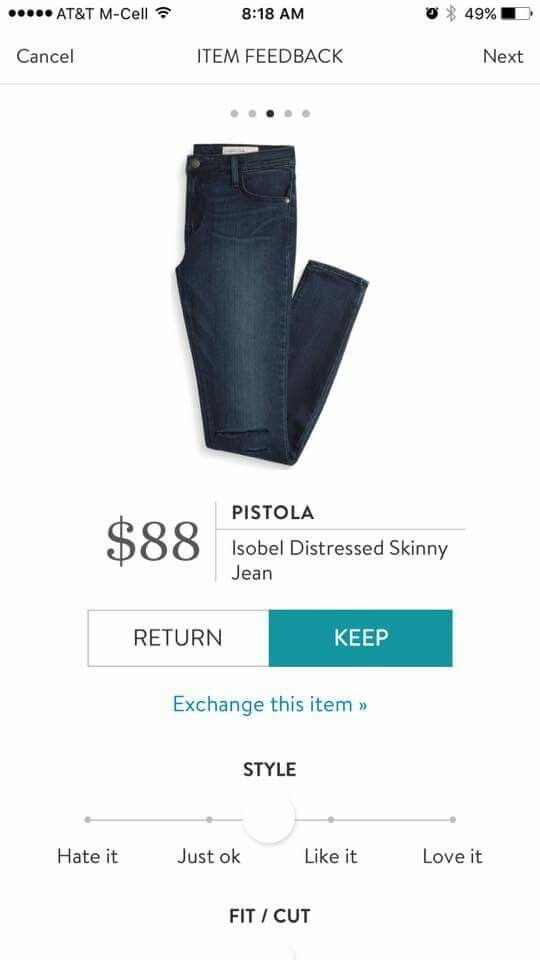 Pistola Isabel Distressed Skinny Jean