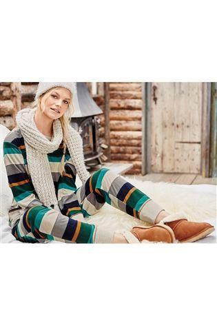 Buy Green Cosy Pyjamas from the Next UK online shop