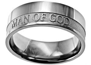 Man of God Mens Ring Front Image