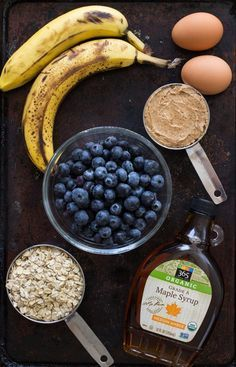 No flour? No problem! These flour-less blueberry pancakes are as sweet and tasty as normal pancakes, but just a tad healthier